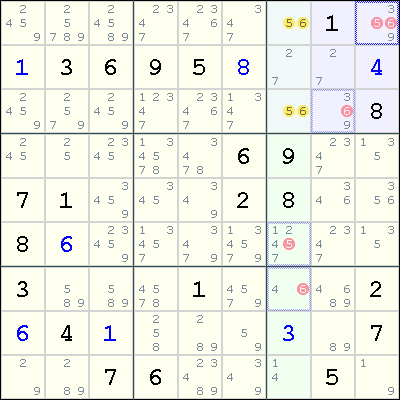 sudoku and candidate If you want to be a savvy sudoku solver, this technique is a must to grasp: xy-wing simply speaking, when one square with candidates {x, y} is in the same row, column, or box as two squares with candidate numbers {x, z}, and {y, z}, candidate number z can be eliminated from the squares in the same row, column, or box as these two squares.